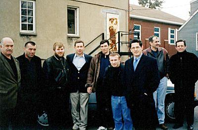 Американские чеченцы у мечети Паттерсон (Нью-Джерси